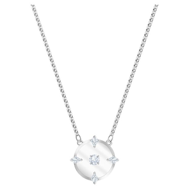 North Necklace, White, Rhodium plated - Swarovski, 5497232