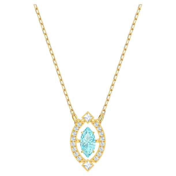 Swarovski Sparkling Dance Necklace, Green, Gold-tone plated - Swarovski, 5497474