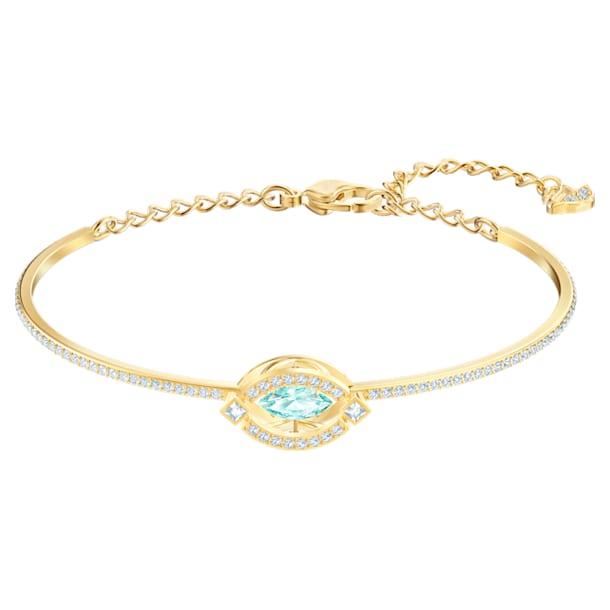 Swarovski Sparkling Dance bangle, Green, Gold-tone plated - Swarovski, 5497476