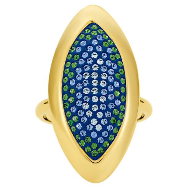 Anello Evil Eye, grande, blu, placcato color oro - Swarovski, 5497660