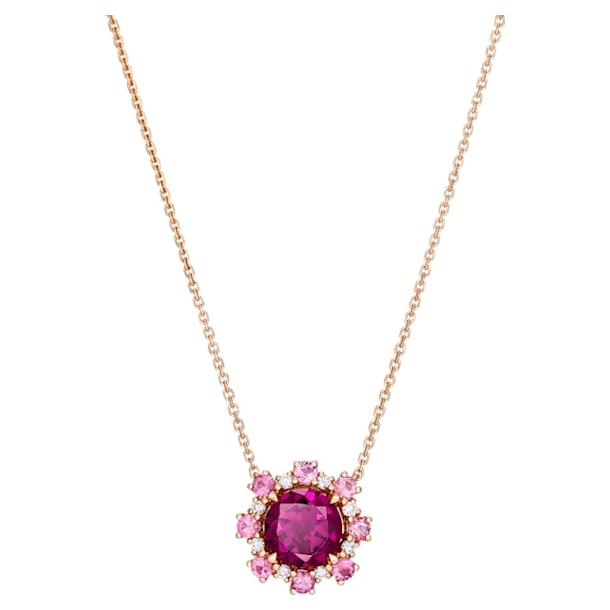 心之绽放18K玫瑰金紫紅色石榴石粉红碧玺钻石项链 - Swarovski, 5497837