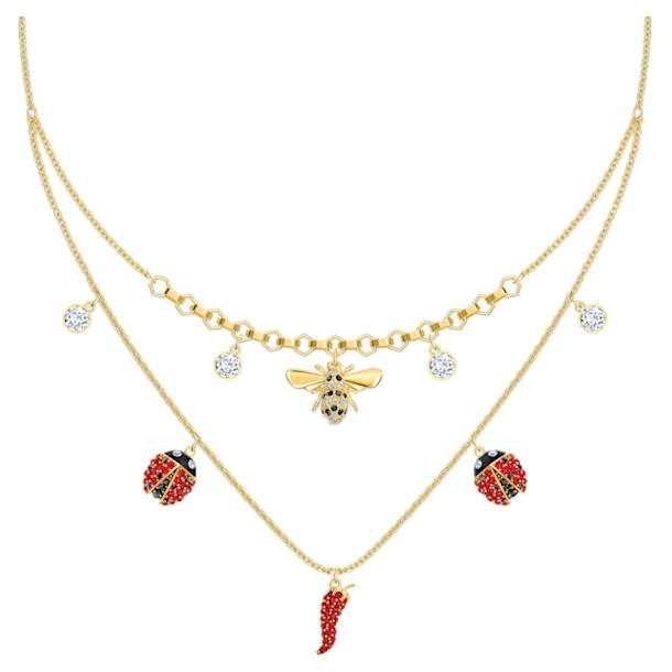 Collier Lisabel, rouge, Métal doré - Swarovski, 5498807
