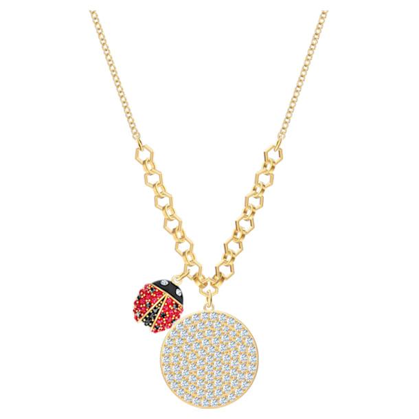 Lisabel érmés nyaklánc, piros, arany árnyalatú bevonattal - Swarovski, 5498808