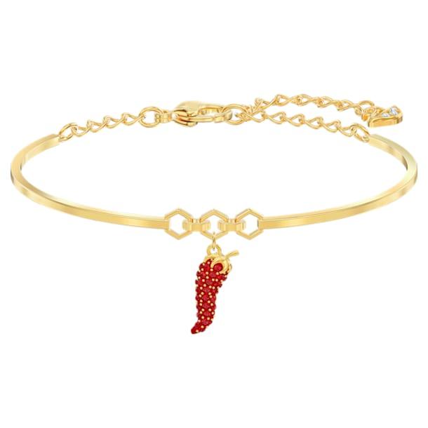 Lisabel Pepper bangle, Pepper, Red, Gold-tone plated - Swarovski, 5498810