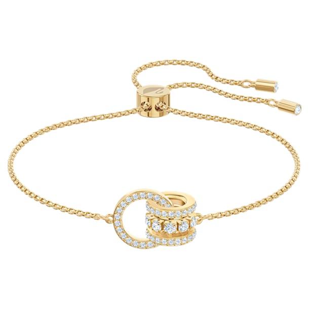 Further-armband, Wit, Goudkleurige toplaag - Swarovski, 5499000