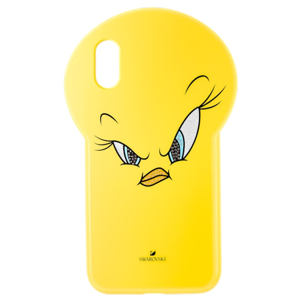 Étui pour smartphone Looney Tunes Titi, iPhone® X/XS, jaune - Swarovski, 5499820