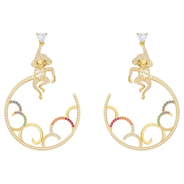My Hero Pierced Earrings, Multi-colored, Mixed metal finish - Swarovski, 5500976