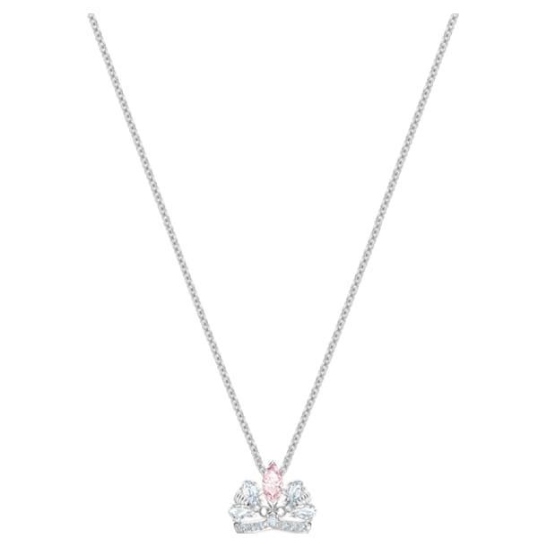 Bee A Queen Necklace, Pink, Rhodium plated - Swarovski, 5501076