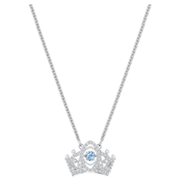 Bee A Queen medálos nyaklánc, kék, ródium bevonattal - Swarovski, 5501080