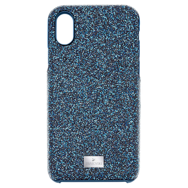 High Smartphone Case with integrated Bumper, iPhone® X/XS, Blue - Swarovski, 5503551