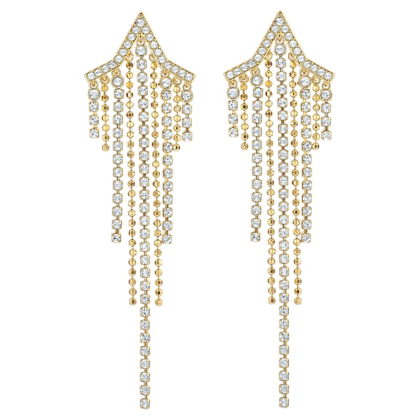 Kolczyki Fit Star Tassell, Biały, Powłoka w odcieniu złota - Swarovski, 5504571