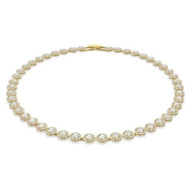 Naszyjnik Angelic, Okrągły, Biały, Powłoka w odcieniu złota - Swarovski, 5505468