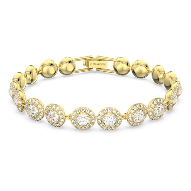 Angelic bracelet, Round, White, Gold-tone plated - Swarovski, 5505469