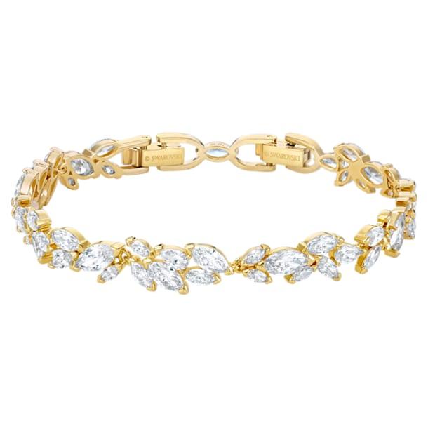 Louison Bracelet, White, Gold-tone plated - Swarovski, 5505863