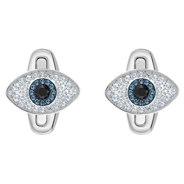 Unisex Evil Eye cufflinks, Multicolored, Stainless steel - Swarovski, 5506081