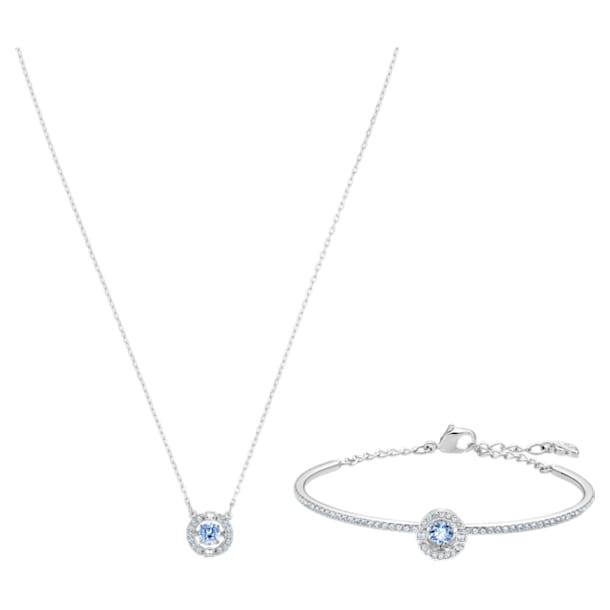 Swarovski Sparkling Dance Set, Blue, Rhodium plated - Swarovski, 5506386