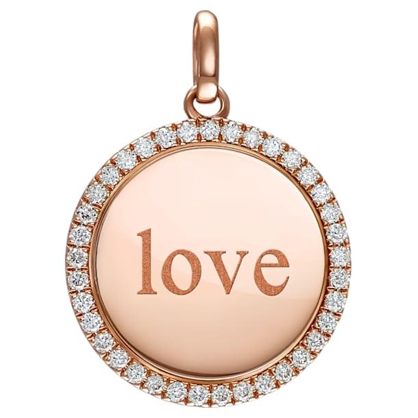 爱是唯一玫瑰金钻石链坠 - Swarovski, 5506532