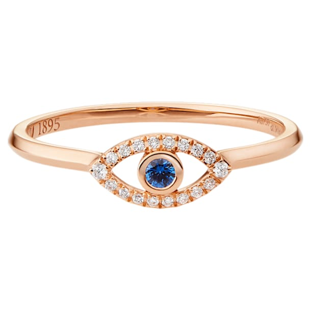 18K RG Just Myself Evil Eye Ring - Swarovski, 5506539