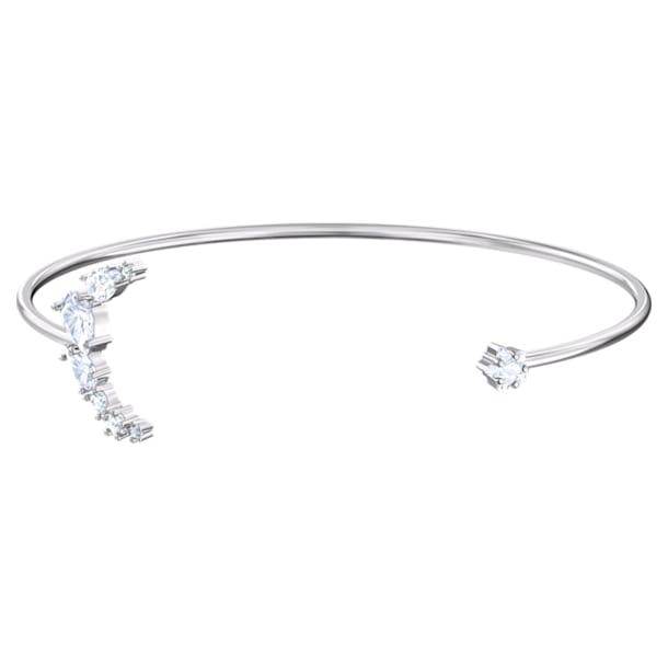 Moonsun brede armband, Wit, Rodium-verguld - Swarovski, 5508443