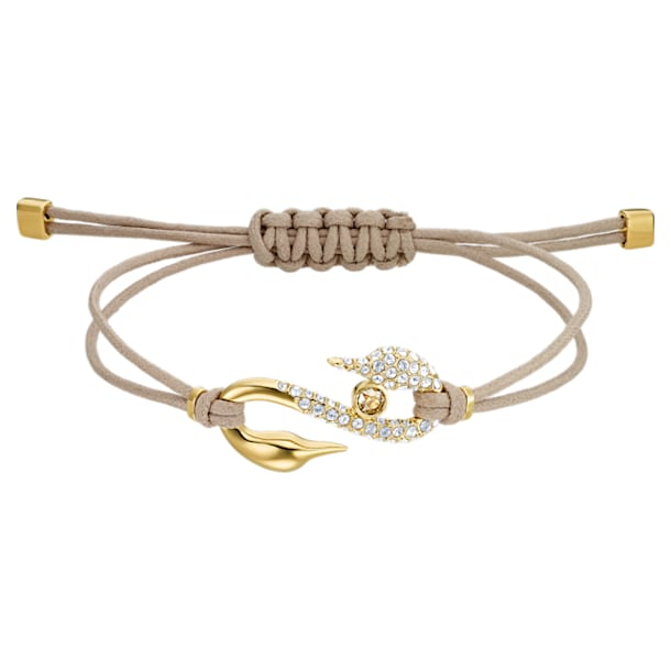 Pulsera Swarovski Power Collection Hook, mediana, Beige, Baño tono oro - Swarovski, 5508527