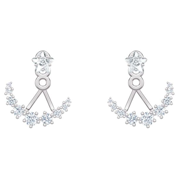 Boucles d'Oreilles « Ear-Jacket » Moonsun, Blanc, Métal rhodié - Swarovski, 5508832