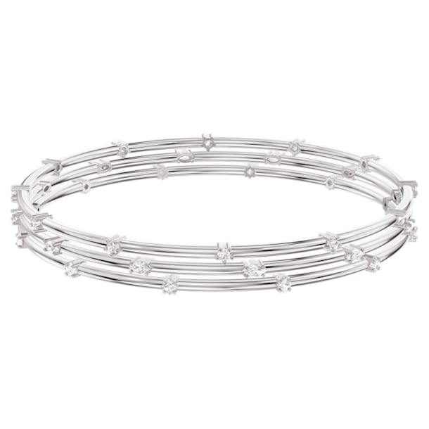 Moonsun Bangle Set, White, Rhodium plated - Swarovski, 5508875