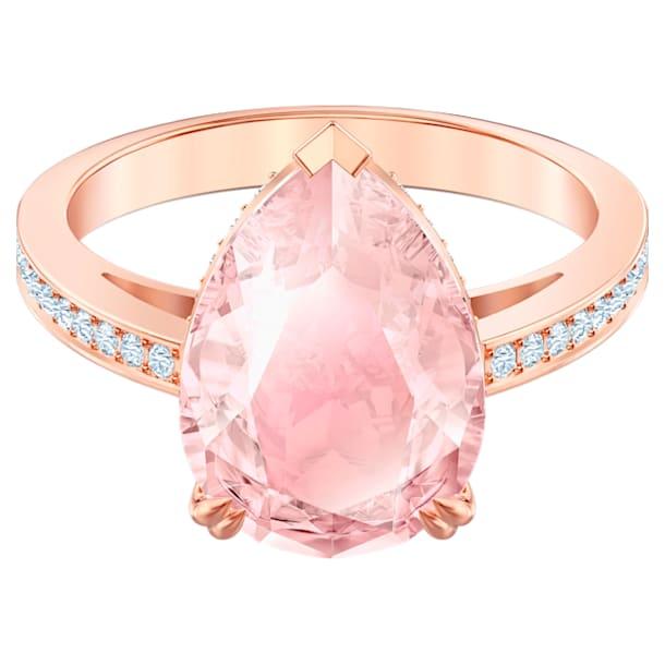 Pierścionek koktajlowy Vintage, różowy, w odcieniu różowego złota - Swarovski, 5509684