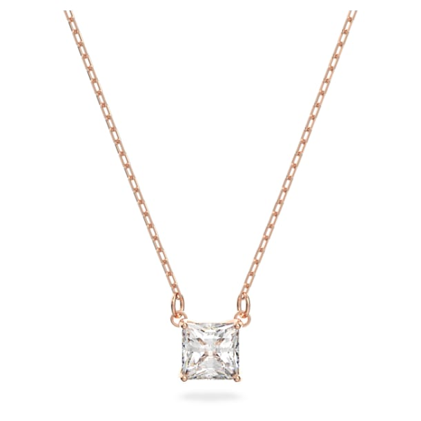 Collier Attract, blanc, Métal doré rose - Swarovski, 5510698