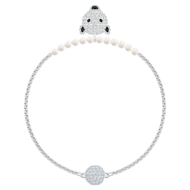 Polar Bestiary armband , Wit, Rodium toplaag - Swarovski, 5511100