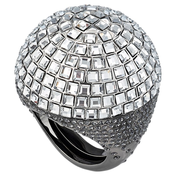 Celestial Fit Cocktail Ring, Grey, Black Ruthenium - Swarovski, 5511384