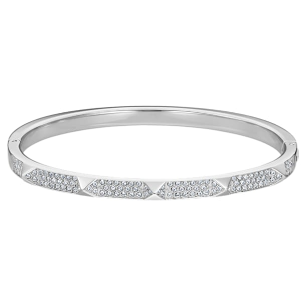 Tactic Bangle, White, Stainless steel - Swarovski, 5511391