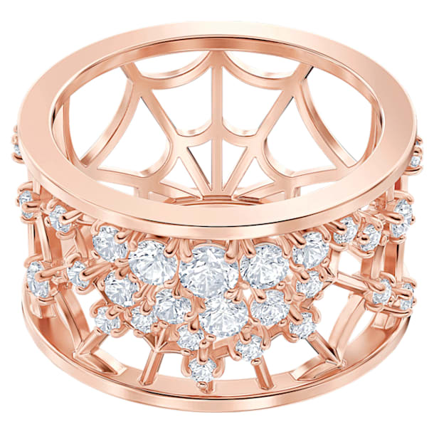 Zdobený prsten Precisely, Bílý, Pozlacený růžovým zlatem - Swarovski, 5511396