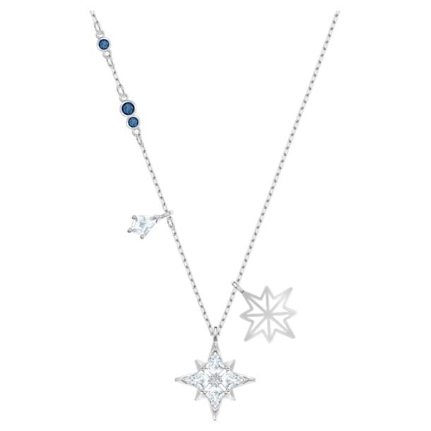 Swarovski Symbolic pendant, Star, White, Rhodium plated - Swarovski, 5511404