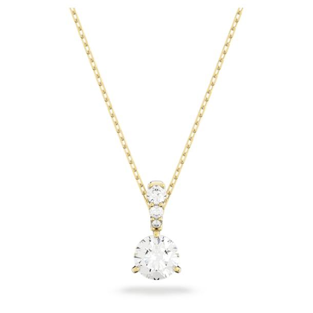Pingente Solitaire, Branco, Lacado a dourado - Swarovski, 5511557