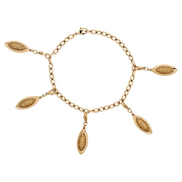 Evil Eye Bracelet, Brown, Gold-tone plated - Swarovski, 5511801