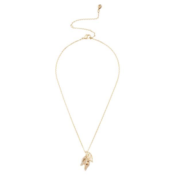 Pendente Graceful Bloom, marrone, Placcato oro - Swarovski, 5511813