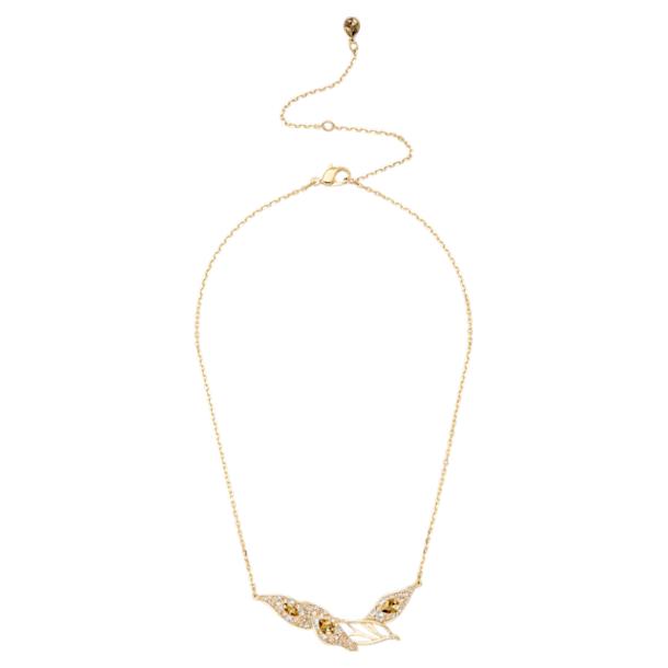 Collana Graceful Bloom, marrone, Placcato oro - Swarovski, 5511820