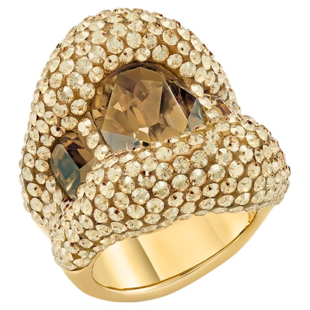 Tigris Cocktail Ring, Gold tone, Gold-tone plated - Swarovski, 5512347