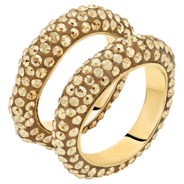 Tigris Ring Set, Gold tone, Gold-tone plated - Swarovski, 5512359