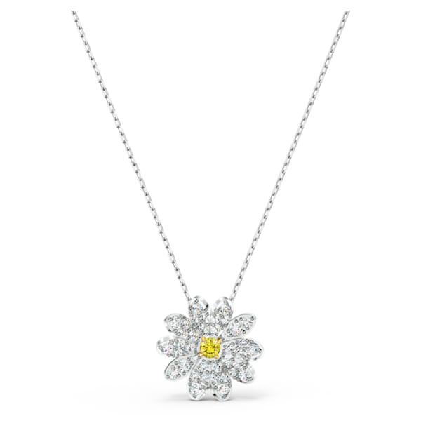 Eternal Flower pendant, Flower, Yellow, Mixed metal finish - Swarovski, 5512662