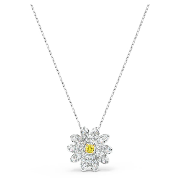 Eternal Flower Pendant, Yellow, Mixed metal finish - Swarovski, 5512662