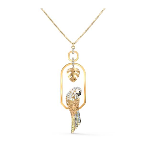 Collier Tropical Parrot, multicolore clair, métal doré - Swarovski, 5512686