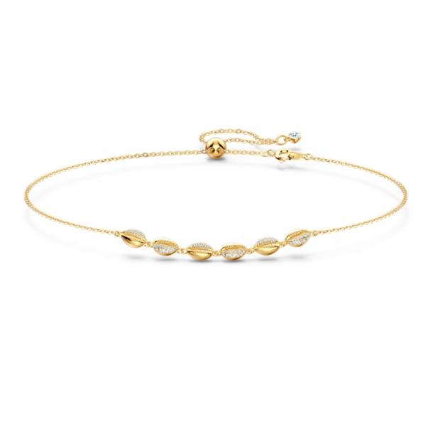 Shell Choker, White, Gold-tone plated - Swarovski, 5512712