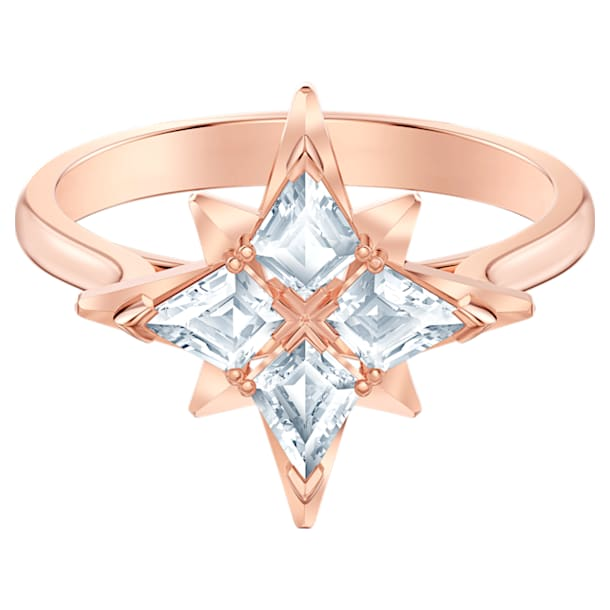 Swarovski Symbolic Star motívumos gyűrű, fehér, rózsaarany tónusú bevonattal - Swarovski, 5513218