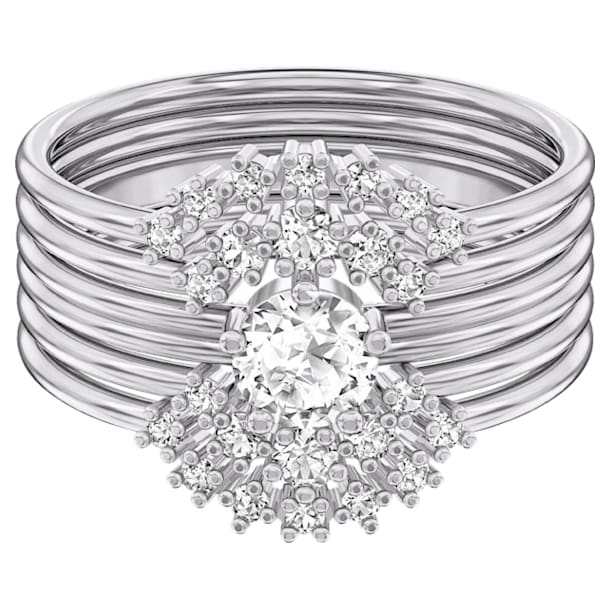 Moonsun ringenset, Wit, Rodium verguld - Swarovski, 5513983