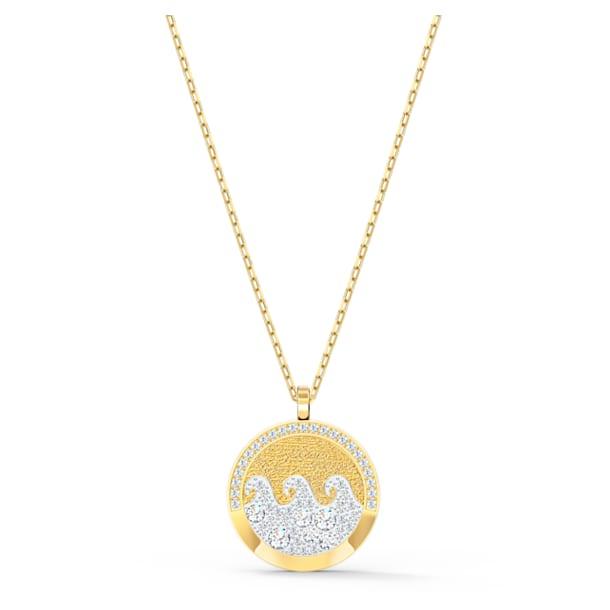 Shine Wave Pendant, Light multi-colored, Gold-tone plated - Swarovski, 5514494