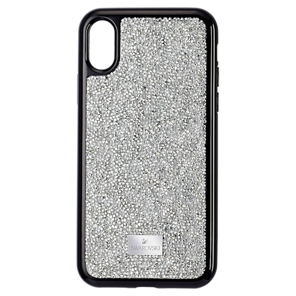 Glam Rock Smartphone smartphone case, iPhone® XS Max, Silver tone - Swarovski, 5515013