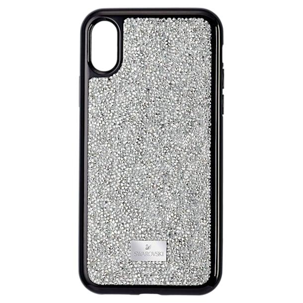 Pouzdro na chytrý telefon Glam Rock Smartphone, iPhone® XS Max, Stříbrný odstín - Swarovski, 5515013