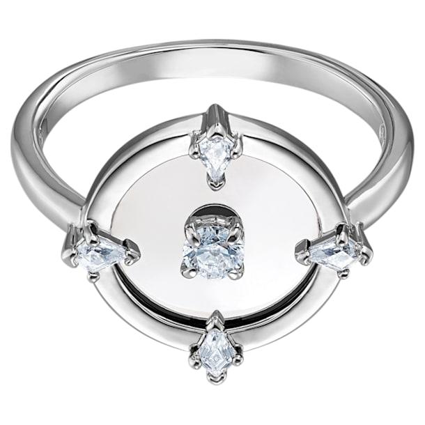North Motif gyűrű, 60, Fehér, Ródium bevonattal - Swarovski, 5515023