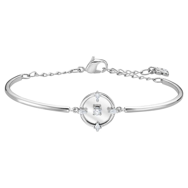 North Bangle, White, Rhodium plated - Swarovski, 5515024